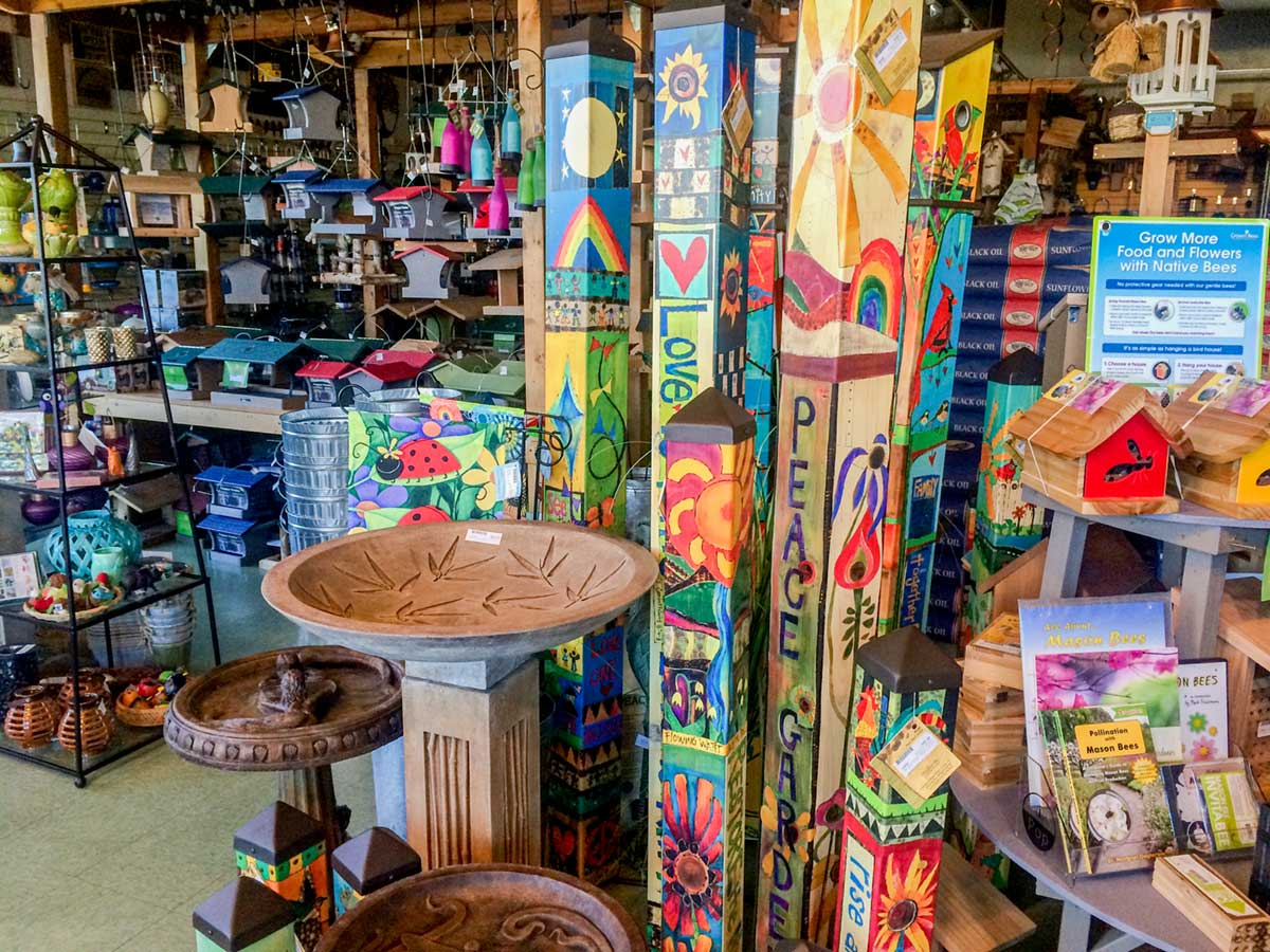 in store products backyard bird shop